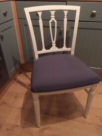 Gorgeous Georgian Dining/Living/Bedroom Chair Painted in Antique White Colour