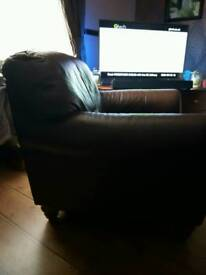Atalsofe Brown Leather chair x 2