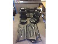 BMW E46 3 Series Black Leather SPORT Seats Interior - camper - also available for E34 E36 E38