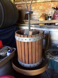 Used wine making equipment including demijohns/ wine press/ jars