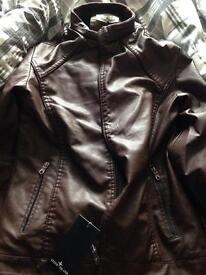 NEW SIZE Stone Island Leather Jacket Medium
