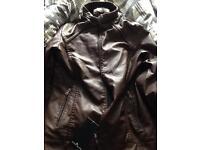 NEW Stone Island Leather Jacket Small