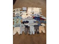 Early baby/Preemie boys clothes bundle 43 items!