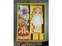 Melissa and Doug Elise Magnetic Wooden Dress up Doll - complete