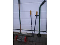 lawn spiker, lawn edging tool, long-handled edging shears, long-handled straight shears