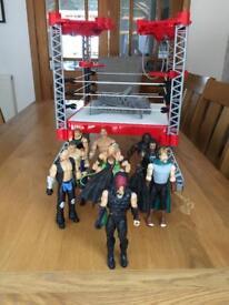 Wrestling figures 10 men