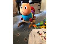 Large girls/toddler clothes bundle & caterpillar rocker, training potty