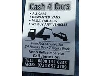 Cash 4 Vans M.O.T Failure category Vans 2004 Upwards We Buy Any Vans Free quotation