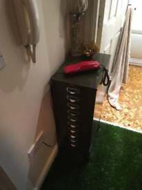 1950s howson metal filing cabinet.