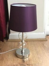 Purple lamp night table