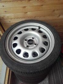 "Genuine Vw G60 15"" Steel wheels (golf,polo,corsa) 4x100"