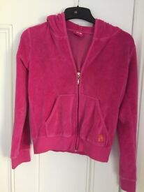 Womens hot pink velvet jacket, size small