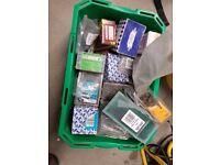 Box of miscellaneous screws, nails & tacks