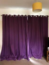 Beautiful purple curtains