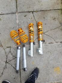 Full set coilovers like new not used cheap for fast sale