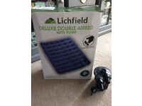 Lichfield Deluxe Double Airbed with pump