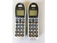 2 x BT 4000 cordless big button phone (with nuisance call blocker)