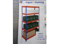 Rapid Racking Shelving unit. 1800mm x 1200mm x 300mm with 6 shelves. Unused - Still boxed