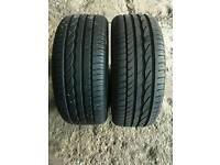 215/45/16 Dunlop tyres