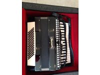 Chanson 96 Bass Accordion complete with carry case
