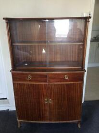 Strong Bow Antique Mahogany Display Cabinet