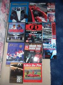 Formula 1 motor racing books from 1998 to 2005 & bound early F1 Formula 1 magazines
