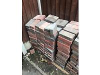 Block paving bricks.