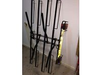 Tow-bar fitting carrier for 4 bikes