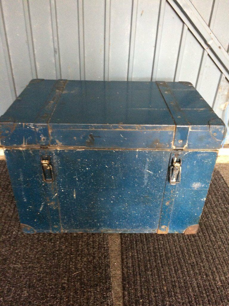 old strong wooden tool box
