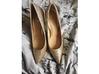 New gold primark sparkly shoes 7