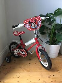 12 inch Red Minnie Mouse Bike