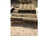 14 metre rolls of grass turf in excellent condition costing only £30