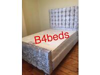 DOUBLE HIGH HEAD CUBE / PRINCES BED WITH ORTHOPAEDIC / MEMORY FOAM MATT