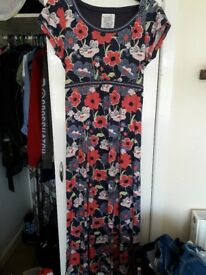 Mantaray Floral print maxi dress (size 16)