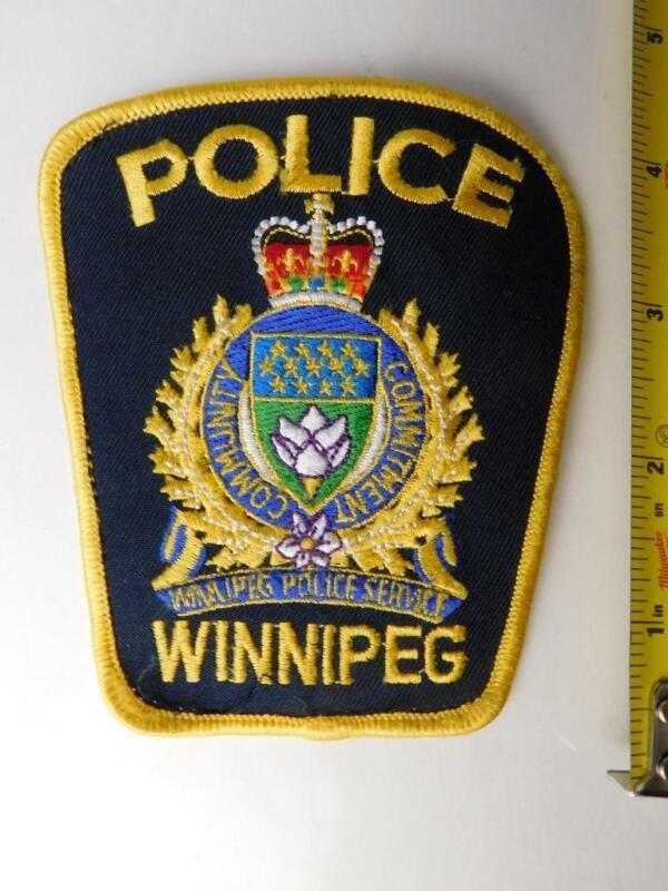 WINNIPEG POLICE VINTAGE PATCH BADGE MANITOBA CITY CANADA COLLECTOR