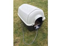 Large dog kennel with heating pad FREE