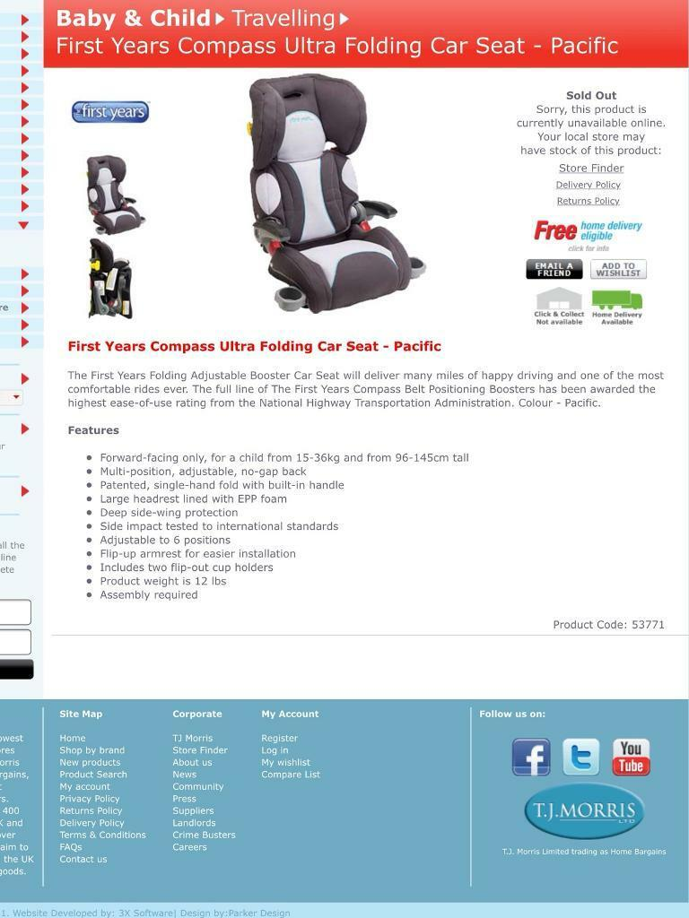 First Years Child S Car Seat In Peterlee County Durham Gumtree