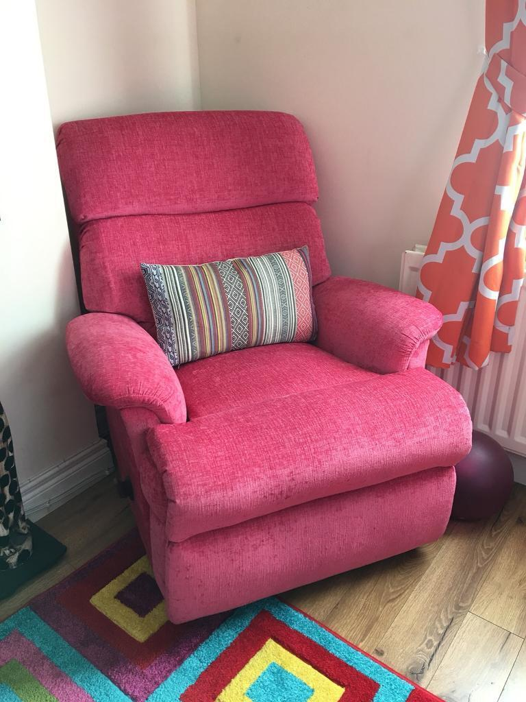 Amazing Funky Pink Recliner Chair In Ballyclare County Antrim