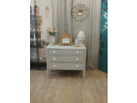 Lovely shabby chic chest of three drawers