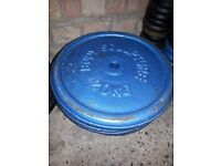 "375kg and over std 1"" weight plates,bars and collars"