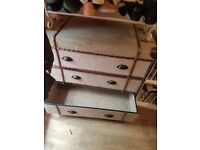 Trunk chest of drawers