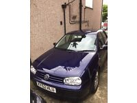 very reliable Golf 4 SE Auto, low mileage, only 3 previous owners