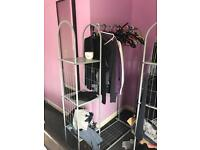2 movable hanging rails