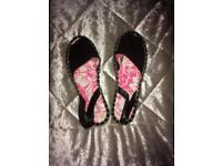 Super dry black sandals size 4/37 brand new