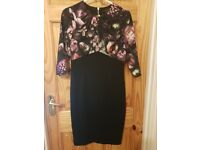 Ted Baker dress, excellent condition,size 8/10, beautiful detail, rose gold zip