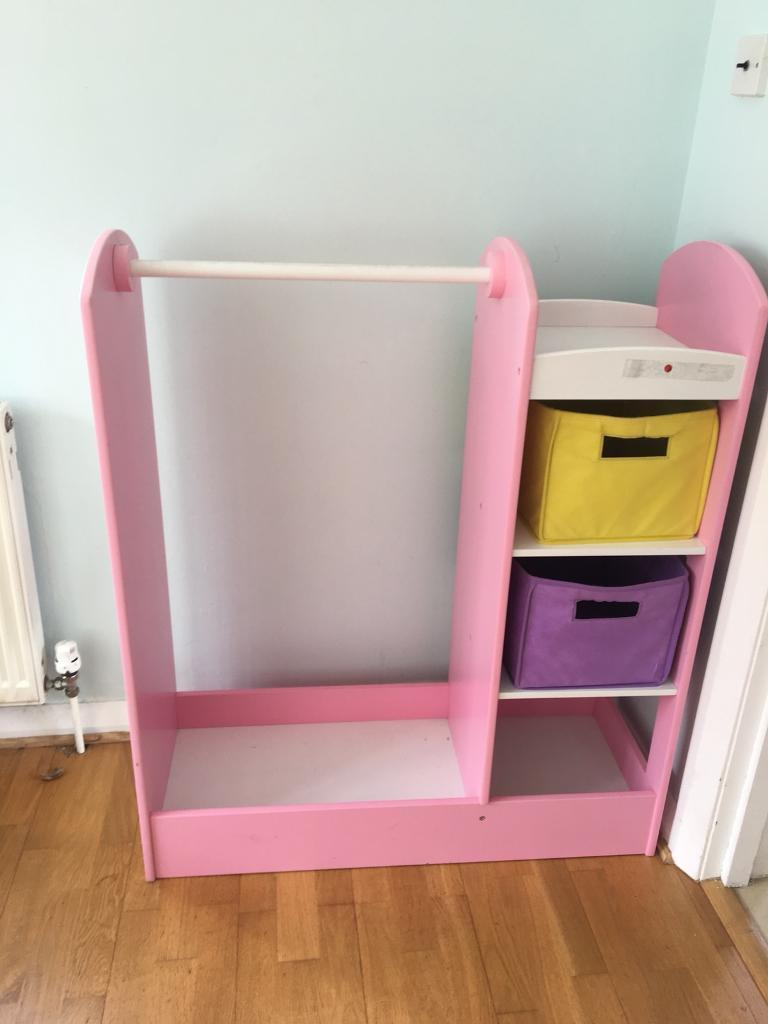 Kids Dress Up Rail With Mirror And Drawers