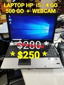 """LAPTOP HP 15.5"""" I5 - 4 GO- 500 GO + WEBCAM"""