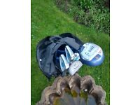 Golf Clubs (left handed, suitable 10 - 14 years)