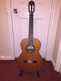 Alhambra 7P Cedro Hand Made Spanish Classical Guitar, + BAM case (retail £350!) + accessories