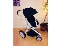 Quinny Moodd Stroller, Pebble Car Seat, Foldable Carrycot, Sun Canopy, Shopping Basket & Raincover!)